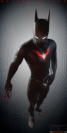 Based on this concept by my pal Guy Bourraine. Batman Beyond created by Bruce Timm and owned by DC Comics 2016 Zbrush, Photoshop, Xnormal, Toolbag Marmoset Foto Batman, Im Batman, Spiderman, Batman Suit, Comic Book Characters, Comic Character, Comic Books Art, Comic Art, Marvel Comics