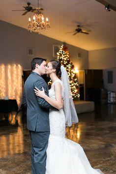 First dance. #ranchwedding #firstdance #christmaswedding #rusticwedding