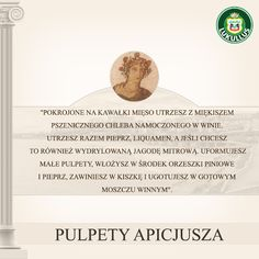 A oto oryginalny przepis na Pulpety Apicjusza!