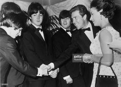 Margaret with Lord Snowdon meet the Beatles.  | Lord Snowdon and Princess Margaret meet The Beatles, left to right ...