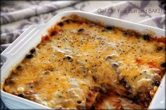 Cheesy Enchilada Casserole » Get Off Your Butt and BAKE
