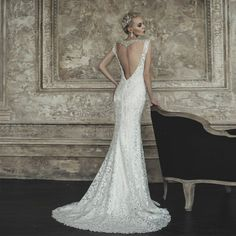 Find More Wedding Dresses Information about Juliana Luxury Sexy V Neck Lace Mermaid Wedding Dresses 2017 With Button Backless Plus Size Bridal Gowns Robe De Mariage WD69,High Quality dresses dance,China dress strapless Suppliers, Cheap dresses pregnant from Bealegantom Wedding Flagships Store on Aliexpress.com