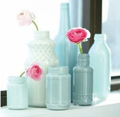 painted jars as home decor