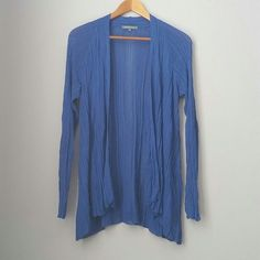 Retro-ology cobalt flowy cardigan Thin flowy material. Gently worn -- excellent condition !!  Bundle for best deals!! Hundreds of items available for discounted bundles- items starting as low as $5! You can get lots of items for a low price and one shipping fee!  Follow on IG: @closethslmr retro-ology Sweaters Cardigans