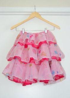 Tutorial: Tiered circle ruffle skirt for girls