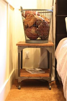 I love the look of storing sports equipment in a metal basket!  My Sweet Savannah: ~a home tour~ {our house}