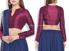 Simple Blouse Designs for Silk Sarees Simple Blouse Designs, Blouse Designs Silk, Blouse Patterns, Winter Blouses, Indian Outfits, Pakistani Outfits, Indian Clothes, Blouse Styles, Saree Blouse