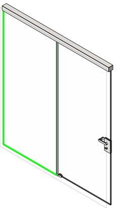 Curtain Wall Four Panel Sliding Door Revit Sketch Up