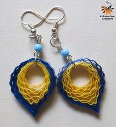 Quilled Earrings www.kalanirmitee.com