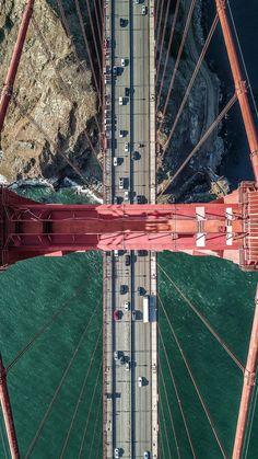 Golden Gate Bridge in San Fransisco - Drohne San Francisco City, San Francisco California, California Usa, Puente Golden Gate, Nova Orleans, Creation Art, Birds Eye View, Aerial Photography, Aerial View