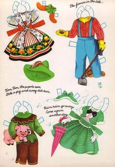 Sharon's Sunlit Memories: Mother Goose Paper Dolls No. 4422 (Artcraft)
