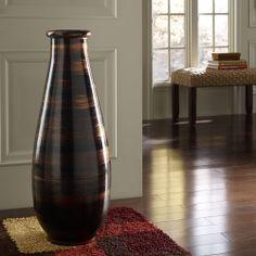 copperworks large floor vase polivaz vases vases home decor - Home Decor Vases