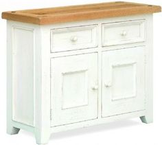 Country Style Cuisine Painted Oak Double Sideboard