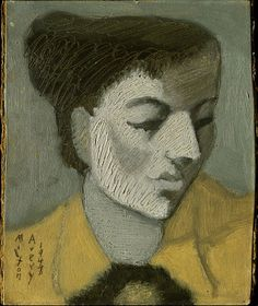 Milton Avery (1885–1965), Portrait, 1948, Oil and pencil on paperboard, 23.2x18.5 cm | Hirshhorn Museum and Sculpture Garden, Smithsonian Institution, Washington