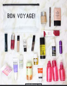 Going on a trip soon? Click through for some tips on how to pack your beauty products in a carry on bag.