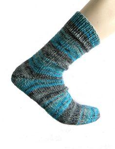 Sokken blauw Katia Riff maat 42/43 van Carolinevantveer op Etsy