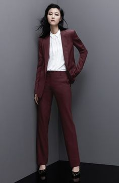 Theory 'Avano' Stretch Wool Pants and 'Dancey' Woven Blazer