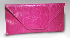 A bright pink/fuchsia!  15 inches long and 7.5 inches tall!