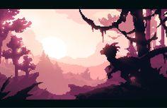 """Pixel Art Masterpiece: """"Raptor Valley"""" by ~Alex Redfish"""