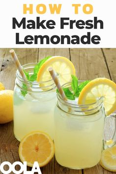 Lemonade is vegan, gluten-free, and very easy to make. Here you'll find recipes for the best lemonade, sugar-free lemonades, and sparkling lemonade. Fresh Lemonade Recipe, Healthy Lemonade, Best Lemonade, Homemade Lemonade Recipes, Fresh Squeezed Lemonade, Vodka Lemonade, How To Make Lemonade, Recetas Salvadorenas, Sparkling Lemonade
