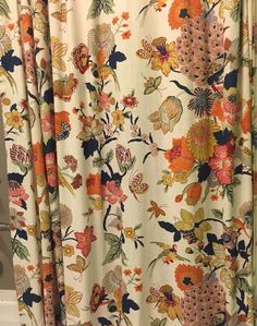 Pottery Barn Bettina Bird Peacock Spring Shower Curtain Hard To Find #PotteryBarn