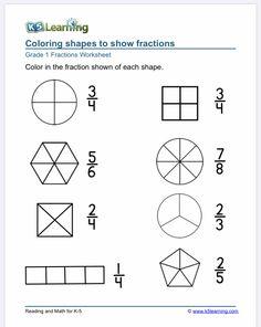 Improper Fractions, Fractions Worksheets, Free Math Worksheets, 1st Grade Worksheets, Kindergarten Math Worksheets, Maths, Good Study Habits, Fraction Word Problems, Math Sheets