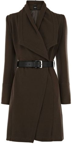 On sale for only $75 get this classic rich coat without breaking the bank! Only smalls left better hurry! Must have!Cowl Collar Belted Coat - Lyst