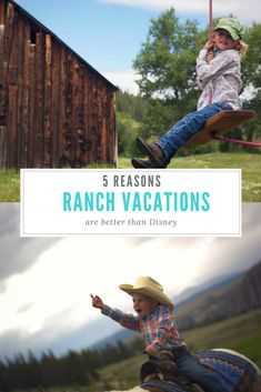 As the original all-inclusive destination for families, a dude or guest ranch vacation guarantees plenty of time to bond as a family. Ranch vacations have a myriad of outdoor adventures such as rock climbing, cattle roping, horseback riding, zip lines and white water rafting. Here are 5 Reasons Ranch Vacations are better than Disney