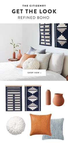 We partner with artisans to create modern goods for the well-traveled home. Minimal Decor, Color Studies, Accent Colors, Get The Look, Decor Styles, Palette, Bring It On, Textiles, Study