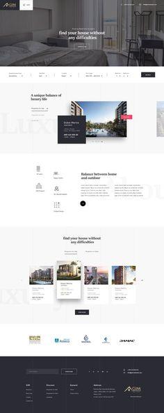 Ideas Design Website Wordpress For 2019 Website Design Inspiration, Best Website Design, Real Estate Website Design, Homepage Design, Web Design Trends, Interior Design Website, Website Designs, Website Ideas, Website Layout