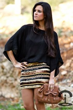 sequins skirt DIY