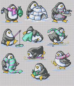 Maria Diaz Designs: Fun Penguins (Cross-stitch chart)