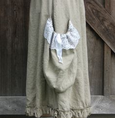 linen skirt ruffled gathered oversized pocket by linenclothing