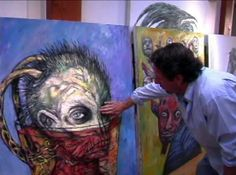 A look at the real size of Clive Barker's paintings.