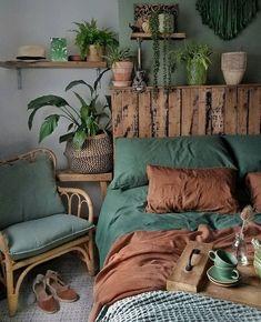 Decor Habitacion Bohemian Style Ideas For The Bedroom Decor Design # bohemianbedroom Bohemian Bedroom Furnishing Bedroom Bohemian . Bedroom Green, Dream Bedroom, Home Bedroom, Bedroom Ideas, Bedroom Furniture, Budget Bedroom, Modern Bedroom, Bedroom Designs, Trendy Bedroom