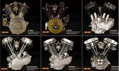 """knucklehead vs panhead vs shovelhead . . . The evolution of the Harley engine. Not shown? The evolution engine when it went back into the """"family"""". Motos Harley Davidson, Harley Davidson Engines, Hot Bikes, Custom Motorcycles, American Motorcycles, Custom Harleys, Vintage Motorcycles, Custom Bikes, Motorcycle Accessories"""
