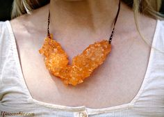 """""""Orange Sapphire"""" rock candy necklace by 1 Fine Cookie"""