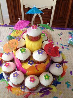 Cupcakes de guayaba. Tema Haway Creación de Silvia's Cake