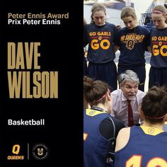 #WBB | Your @USPORTSca Coach of the Year is @queensgaels Dave Wilson. #Final8UVIC #CHAMPSZN