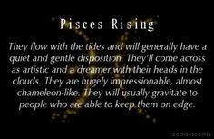 Pisces Rising - realist chameleon you'll ever meet. Sun In Libra, Pisces And Aquarius, Scorpio Moon, Astrology Zodiac, Zodiac Signs, Taurus, Pisces Traits, Astrology Numerology, Numerology Chart