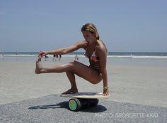 The Indo Board. Fun times, and a bonus balance trainer!