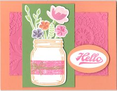 Jar of Flowers by sc magnolia - Cards and Paper Crafts at Splitcoaststampers