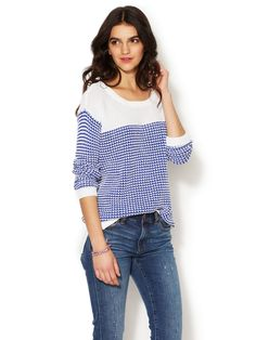 Oversized Twisted Stripe Sweater - great to grab & go!