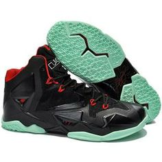 3e64f3ab643a8 Top LeBron James XI Men Shoes in Black Red