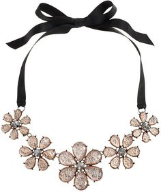 Simply vera vera wang flower ribbon necklace