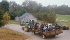Hay rides in the Fall :)