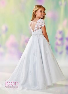Joan Calabrese 118326 - All For Hairstyles Girls First Communion Dresses, Holy Communion Dresses, Girls Pageant Dresses, Cinderella Dresses, Party Dresses, Formal Dresses, Flower Girl Dresses Boho, Flower Girl Tutu, Flower Girls