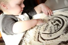 Flour Free Play & Self Portraits | hands on : as we grow