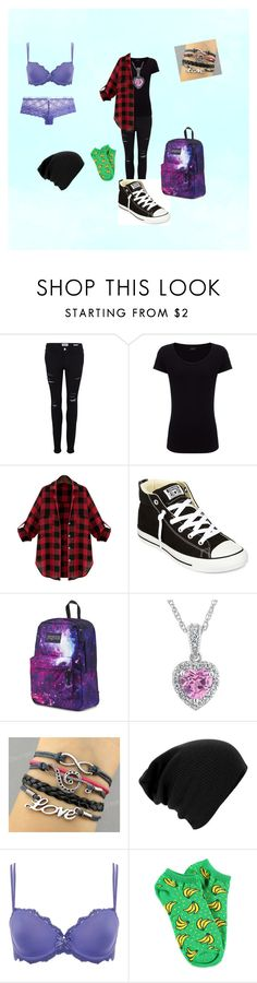 """Beginning of Infinity #5"" by cherokee-june ❤ liked on Polyvore featuring Frame Denim, Joseph, Converse, JanSport, Chantelle, Forever 21 and Heidi Klum Intimates"