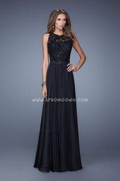 2015 Halter Lace Top La Femme 20638 Sleeveless Prom Dresses